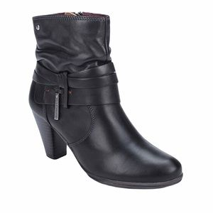Pikolinos Verona Black Leather Booties Size 9.5